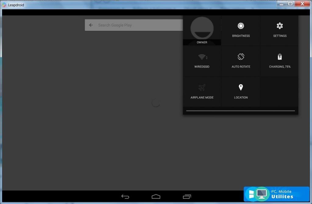 LeapDroid v1 0 - скачать LeapDroid на Windows